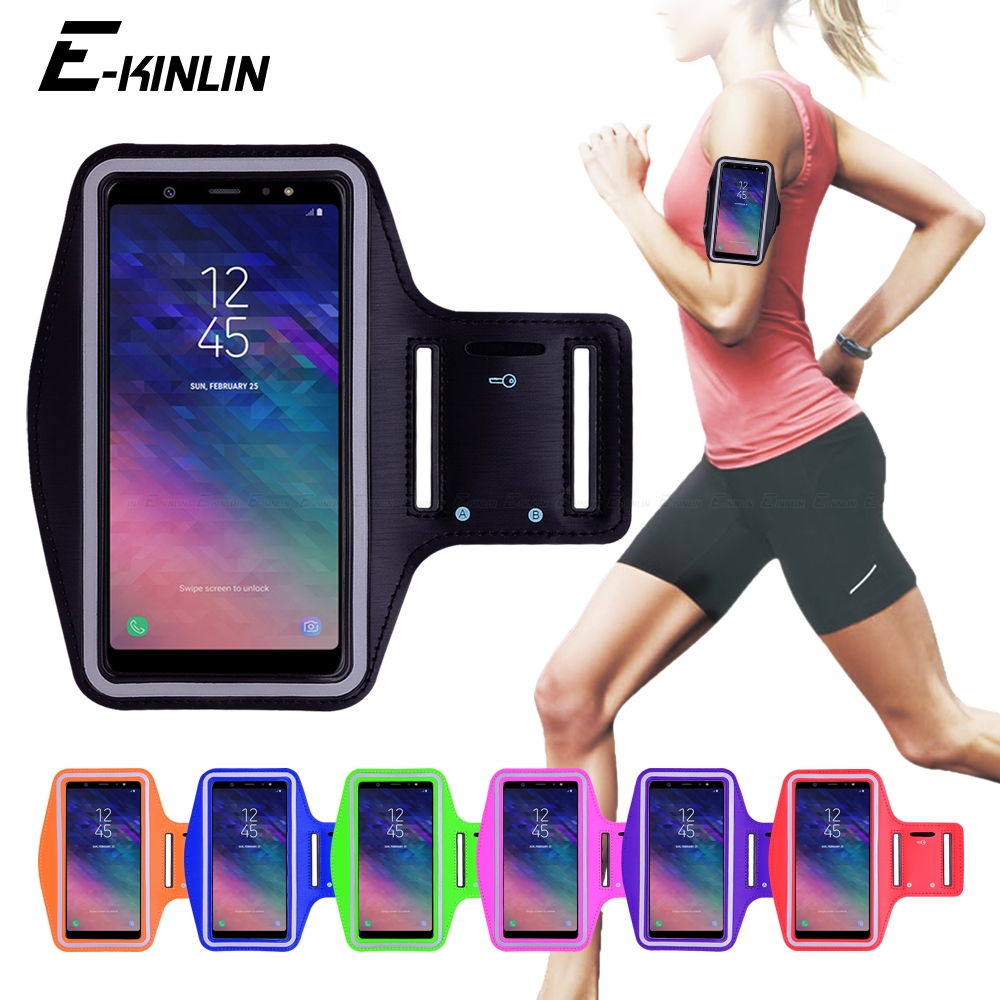 Pink Sports Armband Phone Case Cover Gym Running FOR Samsung Galaxy A70