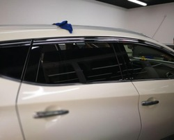 ABS Chrome plastikowa osłona przeciwsłoneczna osłona przeciwdeszczowa akcesoria samochodowe do Nissan Murano 2015 2016 2017 2018 car styling