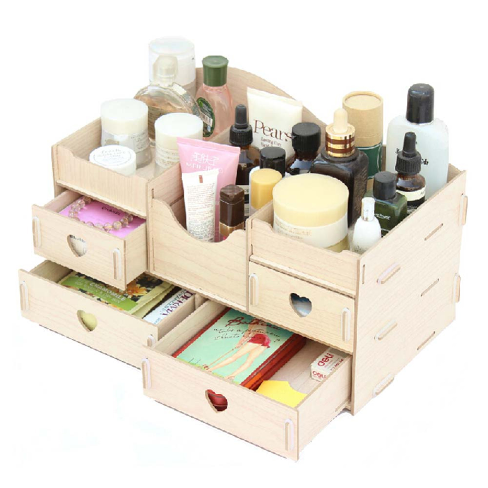 diy desk organiser office desk storage boxes lady jewellery storage boxes in storage boxes bins from home garden on aliexpresscom alibaba group