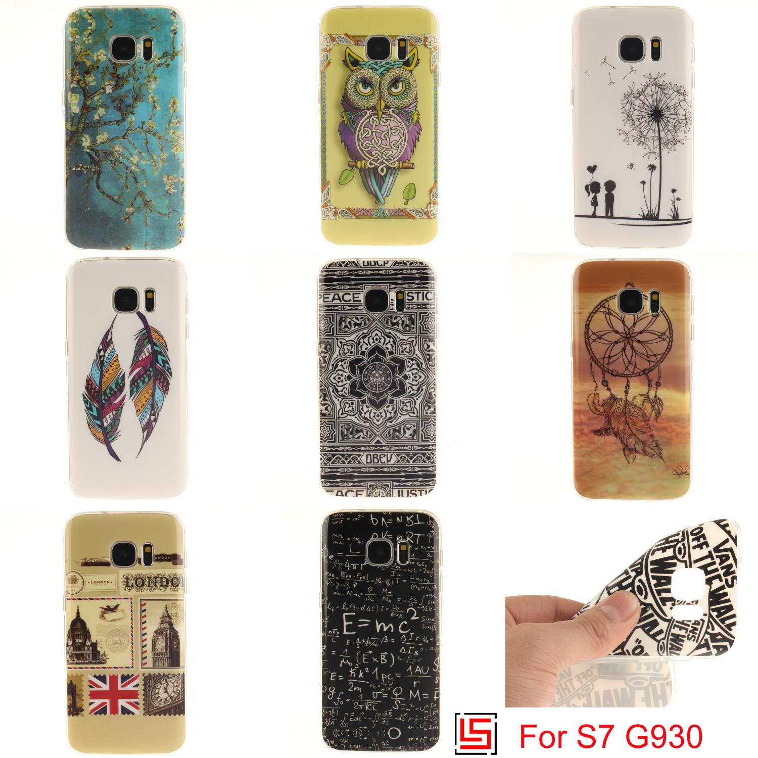 Ultra Thin TPU Silicone Soft Phone Case Cover For Samsung Samsuns Samsu Sansung Galaxy S7 Sex Girl Dreamcatcher Dandelion