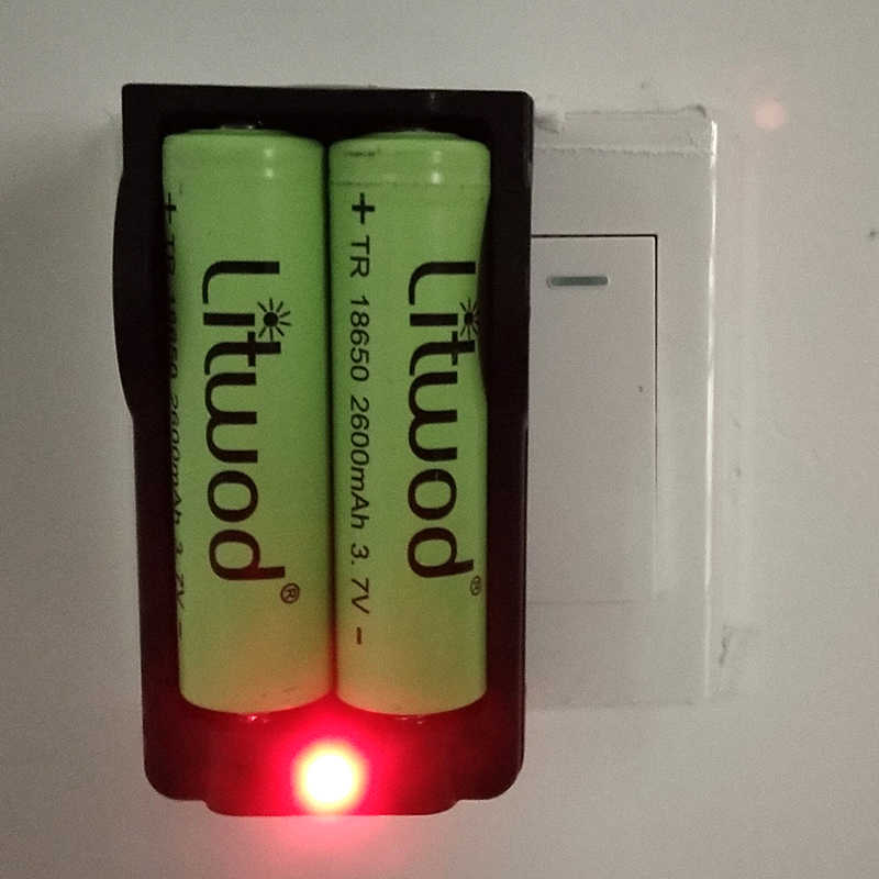 Cargador de batería de litio universal Z20 18650, cargador individual para accesorios de iluminación de baterías 16340/14500/18650