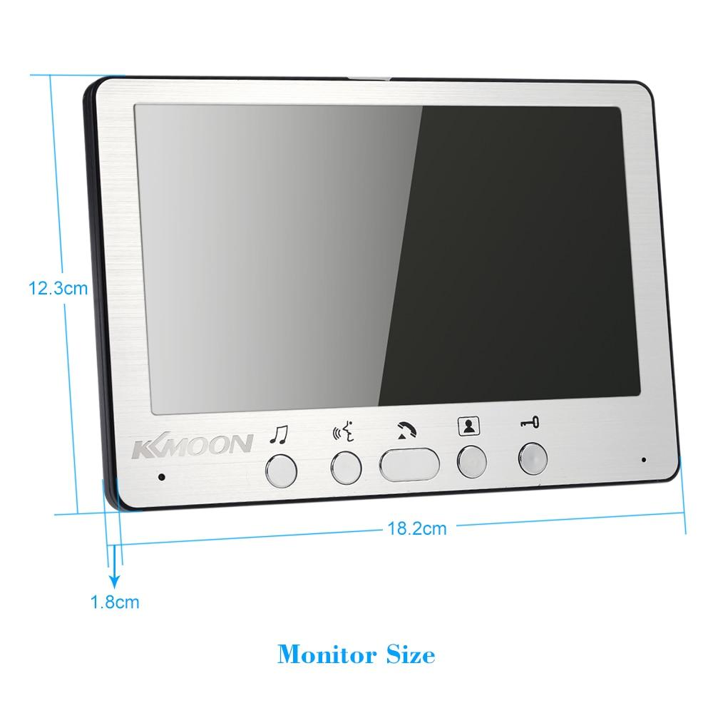KKmoon 7'' TFT LCD Wired Video Door Phone Visual Video Intercom