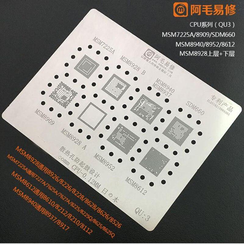 Amaoe alta qualidade para msm8996 msm8976 msm8992 msm8953 msm8937 sdm660 msm8998 msm8952 msm8974 msm8994 cpu ram bga reball estêncil