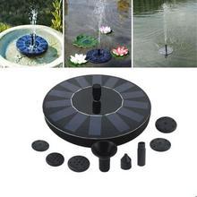 ALLMEJORES Solar pump 7V 1.4W 200L/H Floating Garden Solar Water Pump for Pool Watering Wide Irrigation solar panel