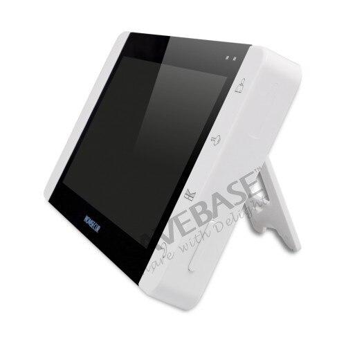 HOMSECUR 7 Видео домофонов внутренней безопасности + черный Камера для дома безопасности 2C1M: TC021-B Камера (черный) + TM703-W монитор (белый)