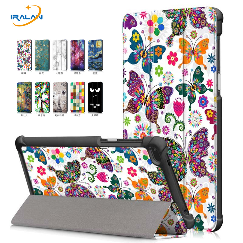 Print Flip Leather Stand case For Lenovo Tab 7 TB-7504F Tablet PC Cover For Lenovo Tab 4 7 TB-7504X/F/N 7.0 inch+film+Stylus pen for lenovo tab3 10 for business tb3 70f m tablet case cover 10 1 inch for lenovo tab2 a10 70f l a10 30 x30f film stylus pen