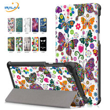 Print Flip Leather Stand case For Lenovo Tab 7 TB-7504F Tablet PC Cover For Lenovo Tab 4 7 TB-7504X/F/N 7.0 inch+film+Stylus pen(China)