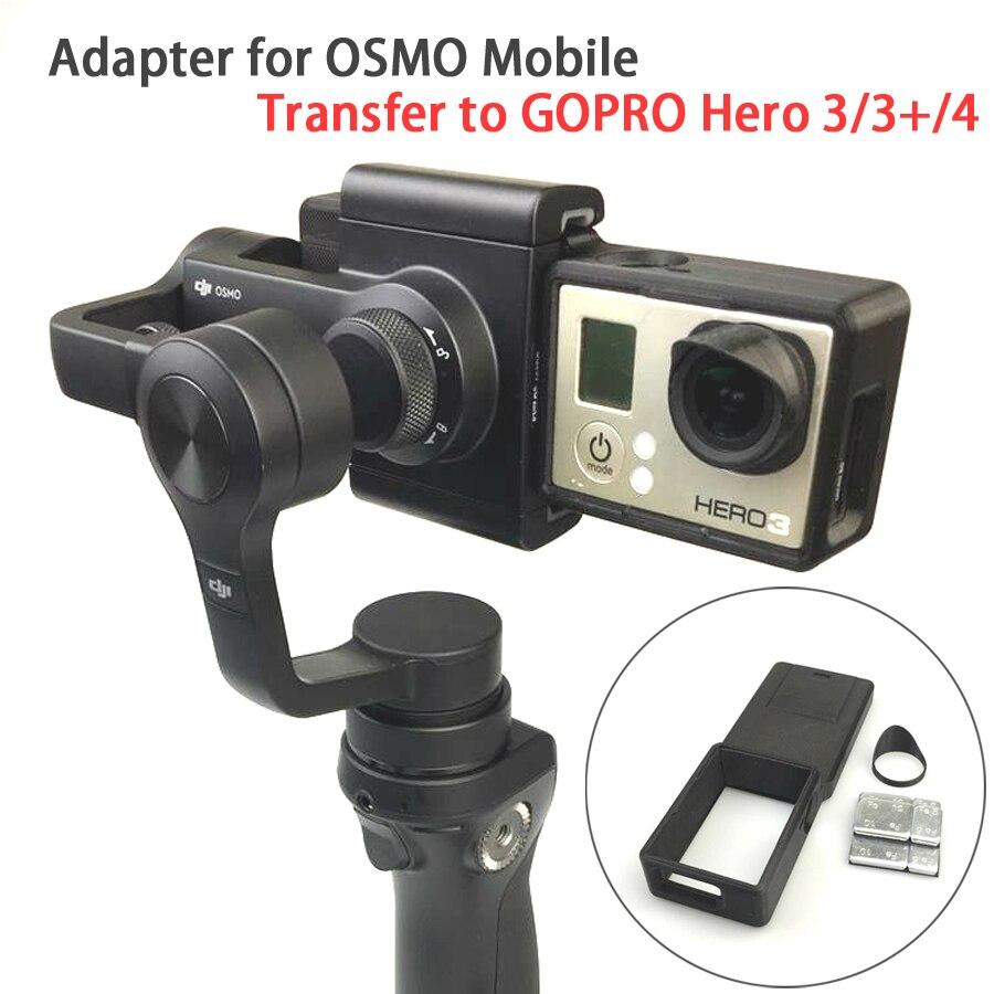 GOPRO Hero 4 3/3 + Accessoires Adaptateur Commutateur Montage Plaque pour DJI OSMO Mobile Cardan Caméra