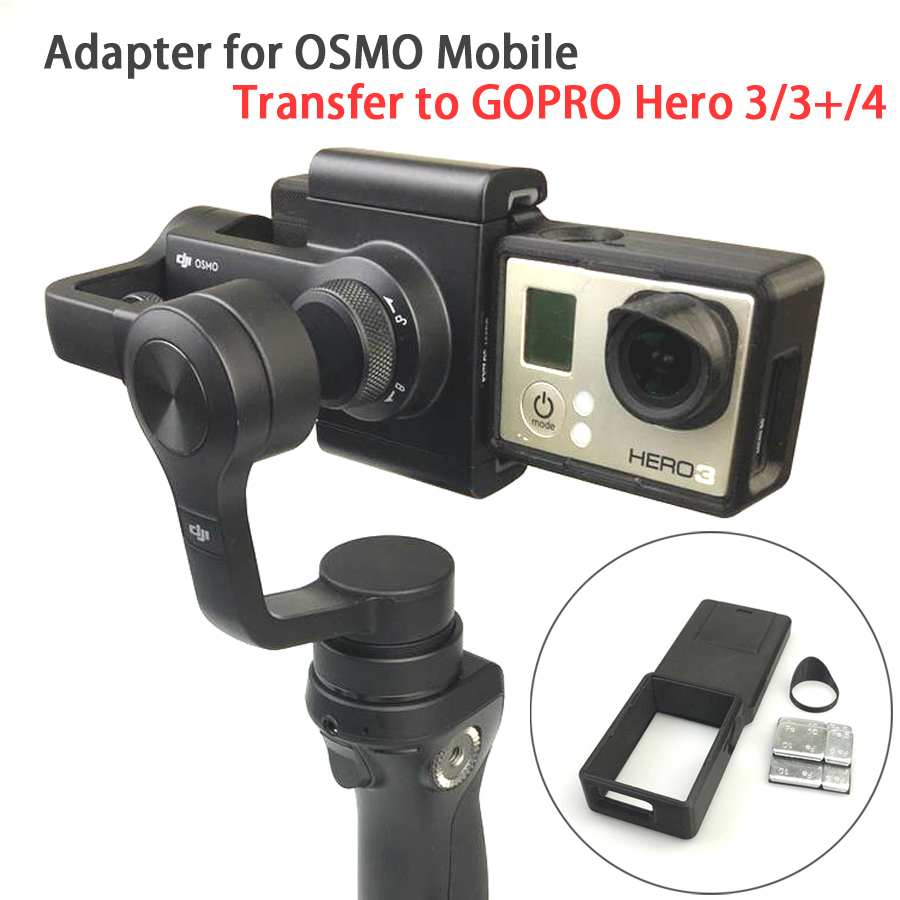 GOPRO Hero 4 3/3+ Accessories Adapter Switch Mount Plate for DJI OSMO Mobile Gimbal Camera