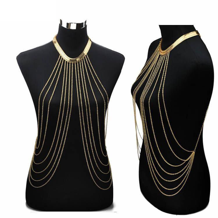 QCOOLJLY Gold Body Jewelry...