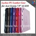 """Para Acer Iconia Tab A1-810 7.9 """"tablet cover, para acer Iconia tab a1 810 Lichia padrão suporte de couro cobrir"""