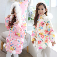Winter Hooded Jackets For Girl Fashion 2017 Warm Down Coat Outerwear Toddler Baby Clothing Infant Clothes High Quality