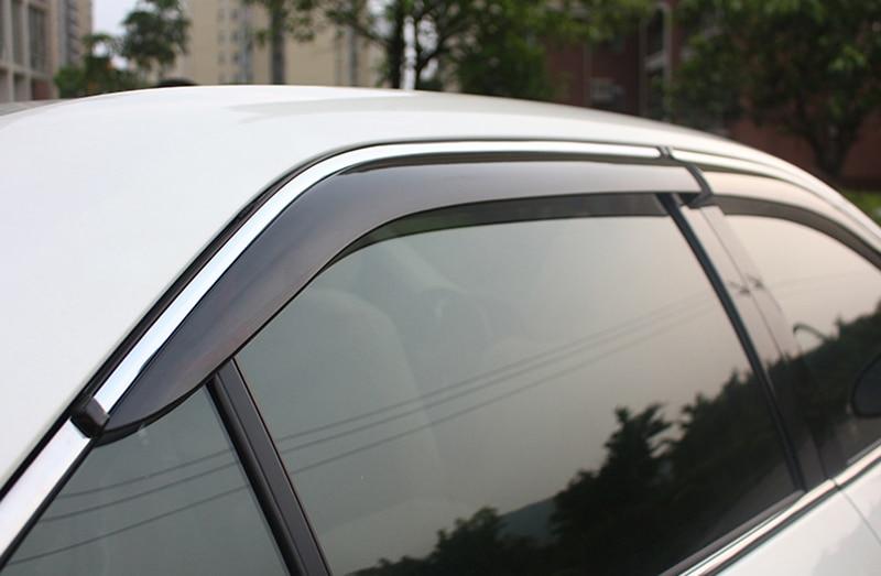 For Toyota Camry 2012 2013 2014 2015 2016 Plastic Window Visor Rain Sun Shield Guard Deflector Trim 4pcs Car Styling for nissan qashqai dualis 2008 2013 window visor rain sun shield guard protector
