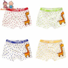 4 Pcs/lot Boy Boxer Shorts Children Underwear for Boys Cotton Boxer Underwear Kids Panties Giraffe