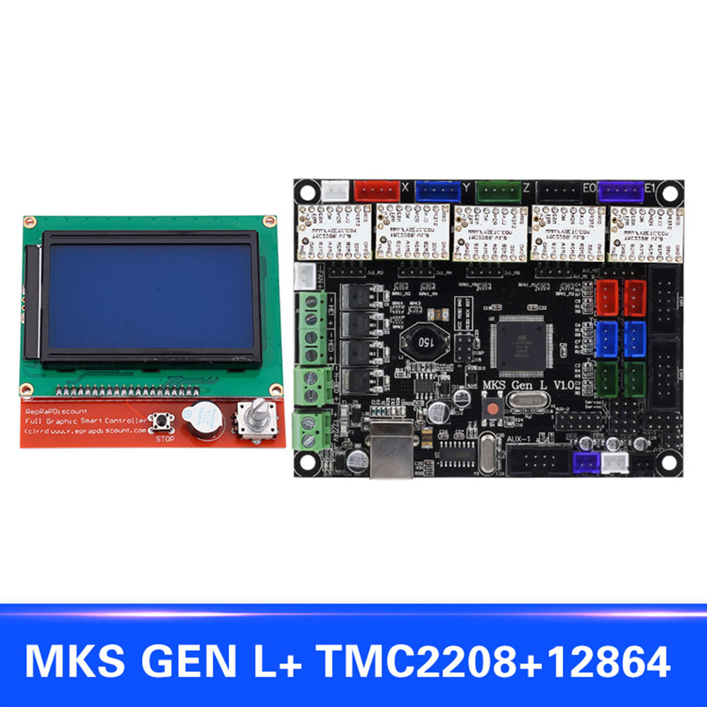 For MKS GEN L Compatible with 12864 LCD Display Support TMC2208 Motor Driver 3D Print Kits XXM8 new style 3d printer accessories mks gen l 12864 lcd display tmc2208 stepper motor driver
