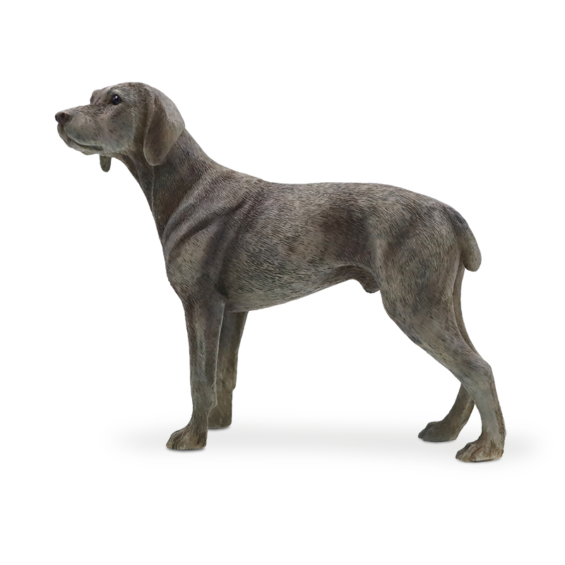 Mnotht Mini Dog Toy 1/6 Weimaraner Dog Model Animal Resin Scene Accessory for Action Figure Collection Vehicle Craft Gift lps toy pet shop sparkle eyes spotty dog action figure animal toys for children birthday gift