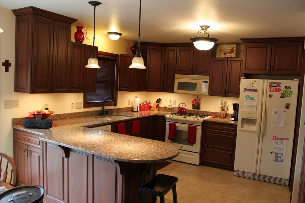 2017 Solid Wood Kitchen Cabinets Customized-made Traditional Kitchen Furniture S1606106
