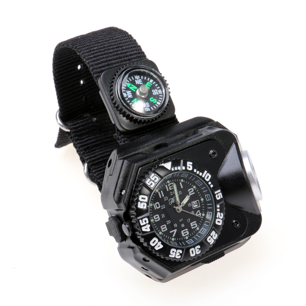 Security & Protection Beautiful Multifunction Usb Rechargeable Wristwatch Lamp Wrist Led Flashlight Watch Light With Compass Bracelet Torch For Night Running