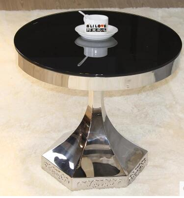 Little Sitting Room Sofa Round Table Of Toughened Glass, Stainless Steel  Round Tea Table In Coffee Tables From Furniture On Aliexpress.com | Alibaba  Group