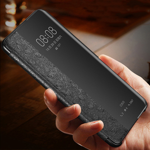 Image 5 - オリジナルxoomzダチョウクロス本物のレザーケースhuawei社P30 プロ高級スマートオートフリップhuawei社P30/プロ電話ケース