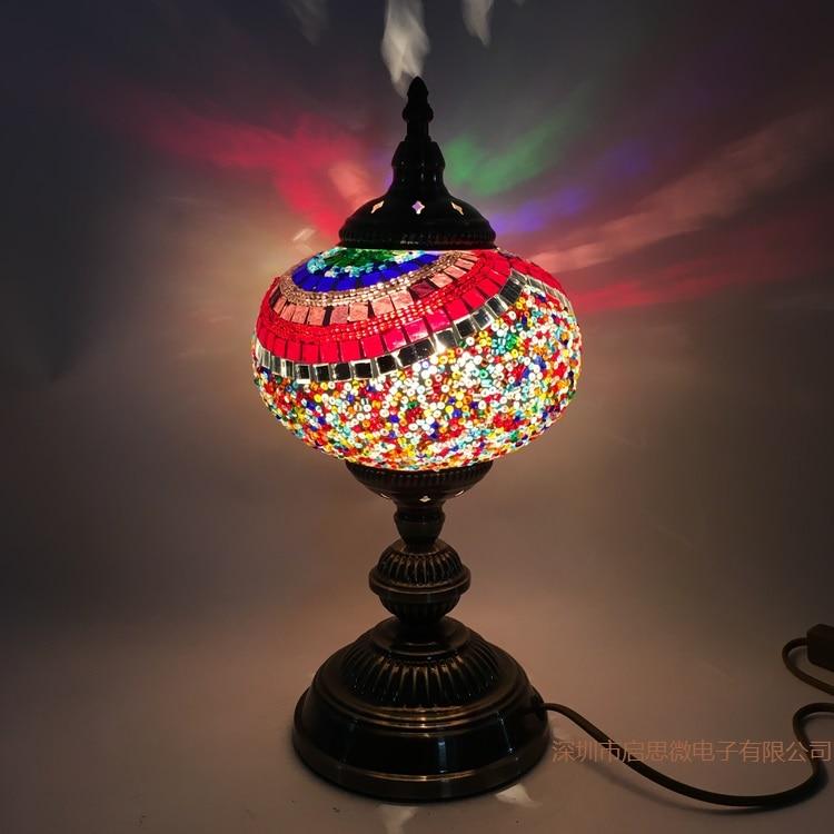 Neueste E14 Hand Eingelegten Glasmosaik Schlafzimmer Wohnzimmer Dekorative Tischlampen Von Mediterranen Stil Trkische LampenChina