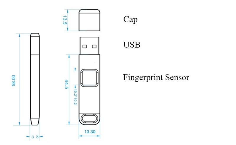 HTB1P1e5bkH0gK0jSZPiq6yvapXaD 32GB 64GB Fingerprint Encrypted USB 2.0 Flash Drive High tech Pen Drive Security Memory USB disk Stick