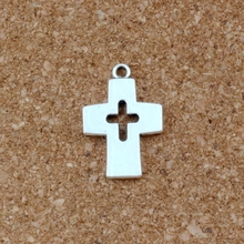Hollow Cross Charm Beads Pendants 20pcs/lots Antique Silver Alloy  Fashion Jewelry DIY 17x25mm
