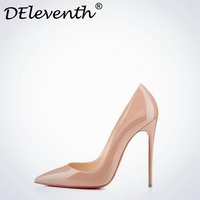 DEleven Women S Sexy Stiletto High Heels Pumps Pointed Toe Shoes Red Black Pink