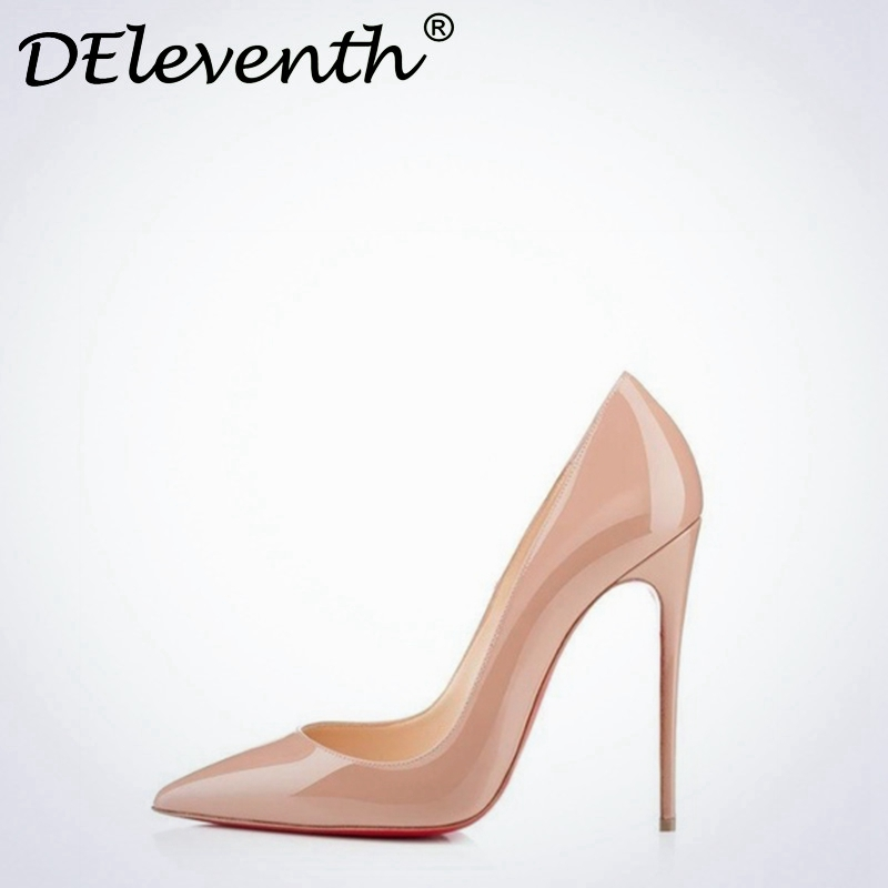 Hot OL Office Lady Classics Women Sexy Stiletto High Heels Pumps Shoes Pointed Toe Shoes Red Black Wedding Party Court Shoes 41 women wedding shoes suede pump high heels ol lady office shoes pointy chic court stiletto candy color party classic shoes