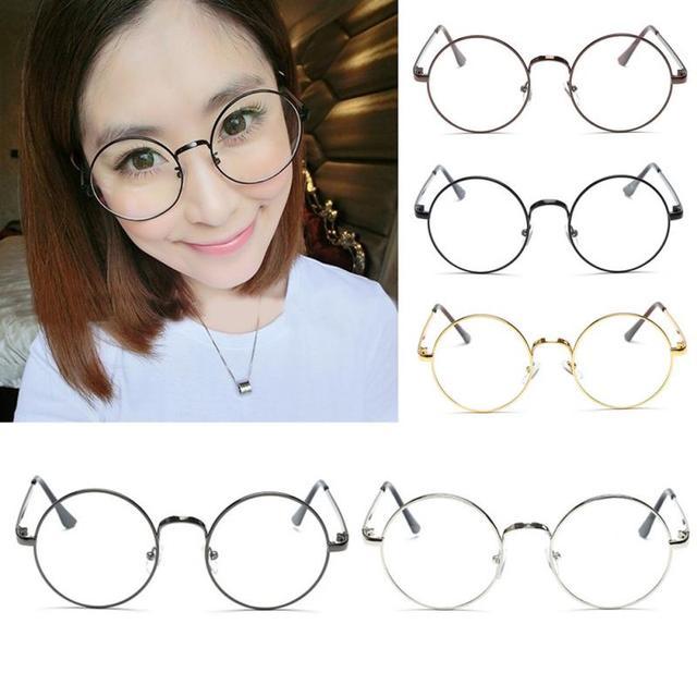 c9229c8fe 2018 New arrive Glasses frame Women Men Retro Round Metal Frame Clear Lens  Glasses Nerd Spectacles Eyeglass