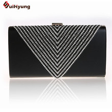New Patent Leather Women's Luxury Handbag Geometric Diamond Hard Case Day Clutches Lady Party Evening Bag Shoulder Messenger Bag