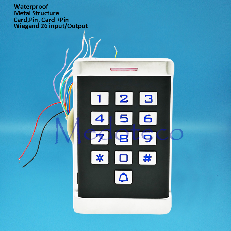 IP68 Waterproof Metal Press Keypad Smart 125khz Rfid Door Access Control System Metal Shell Access Control Door Opener