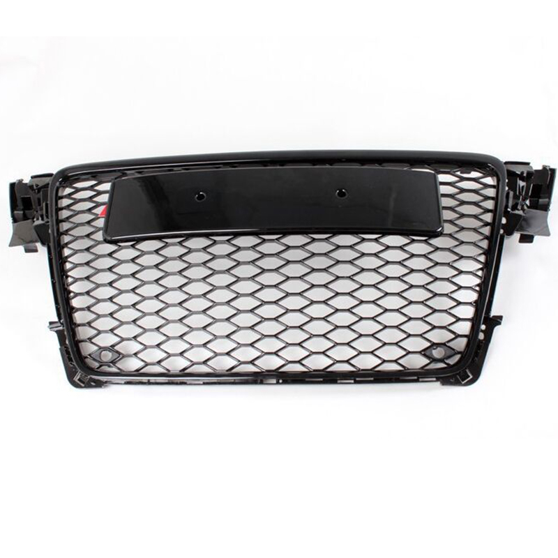 A4 B8 Black ABS Car Styling Exterior Parts Front Mesh Grill Grids No Camera Hole for Audi A4 B8 2009-2012A4 B8 Black ABS Car Styling Exterior Parts Front Mesh Grill Grids No Camera Hole for Audi A4 B8 2009-2012