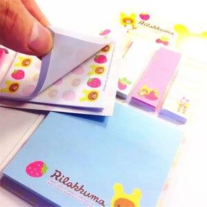 Image 5 - Rilakkuma Bloc de notas de dibujos animados, 20 unidades por lote, Bloc de notas adhesivas, papel extraíble, venta al por mayor