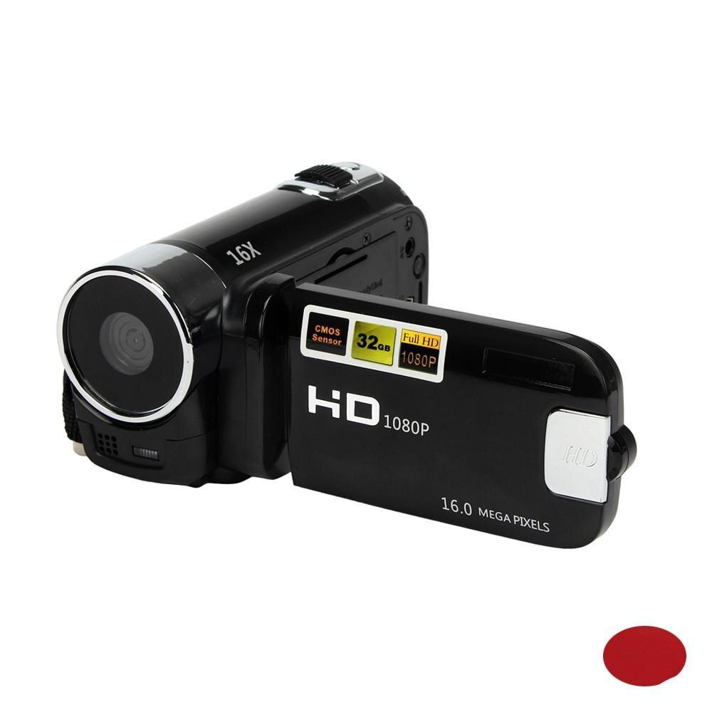4/3 pulgadas tipo SD/SDHC tarjeta CMOS HD 1080P píxeles 16M 16X Zoom Digital videocámara TPT LCD cámara DV uso doméstico cámara de fotos Ultra cámara fotográfica 16MP Ultra-clear HD cámara Digital DVR 1080P Mini HD cámara de vídeo preciso cámara grabadora DVR negro