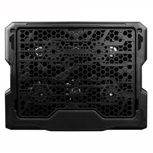 Image 2 - Podkładka chłodząca do laptopa chłodzenie laptopa sześć wentylatorów i 2 porty Usb podkładka chłodząca do laptopa stojak na notebooka do 13 16 Cal do laptopa