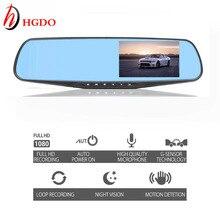 Wholesale prices HGDO Car Dvr Camera Auto 4.3 Inch Full HD 1080P Rearview Mirror Digital Video Recorder Dual Lens Registratory Camcorder Dash cam