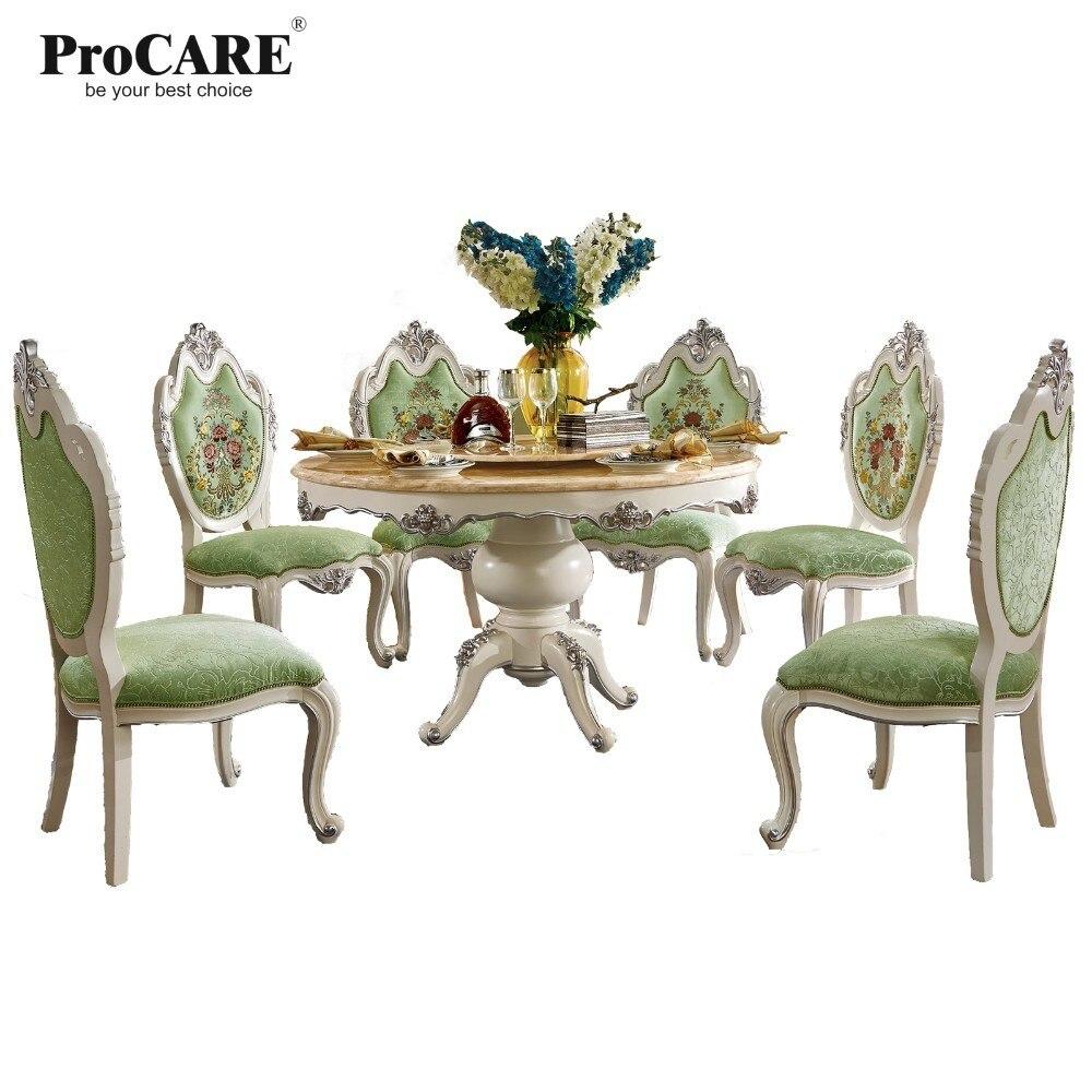 Роскошный европейский и американский стиль мебель королевской серии обеденный стол 8015 8011