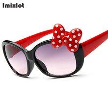 Imixlot 2017 New Baby Girls Brand Kids Sunglasses Cute Dot Bow Decoration Plastic Frame Glasses Gafas Oculos De Sol Crianca