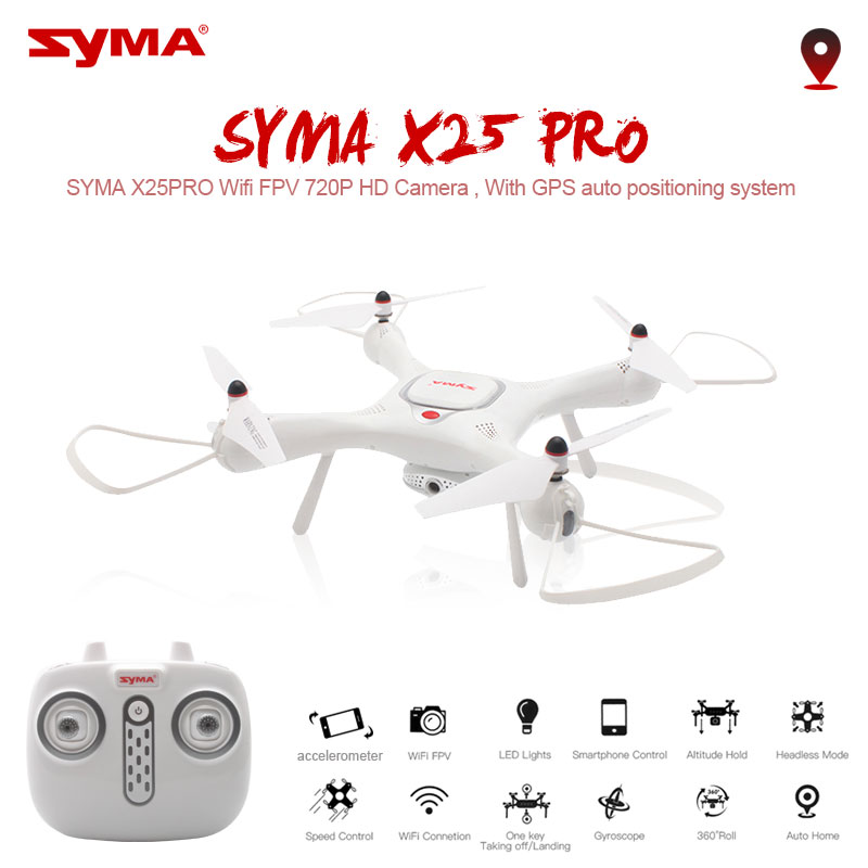 Syma Drone X25PRO Wifi FPV ajustable 720P RC Drone con cámara Quadcopter RTF posición GPS altitud RC del SG900 XS812