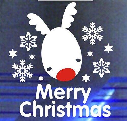 Merry Christmas Vinyl Nursery Wall Decals Snow Cute Deer doe Wall Stickers Baby Room Boy Girl Wallpaper Home Decorations