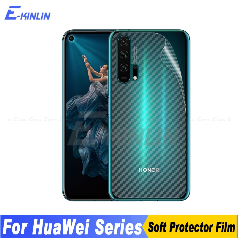 3D Carbon Fiber Back Cover Screen Protector For HuaWei Honor View 10 Mate 20 Lite Pro Sticker Protective Film Not Tempered Glass image