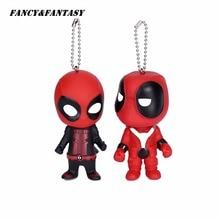 Fancy&Fantasy Classic Deadpool Cute Doll Keychain mercenary  Rubber PVC Pendant Keychain Action Figure Toys Keyring Gift K-134