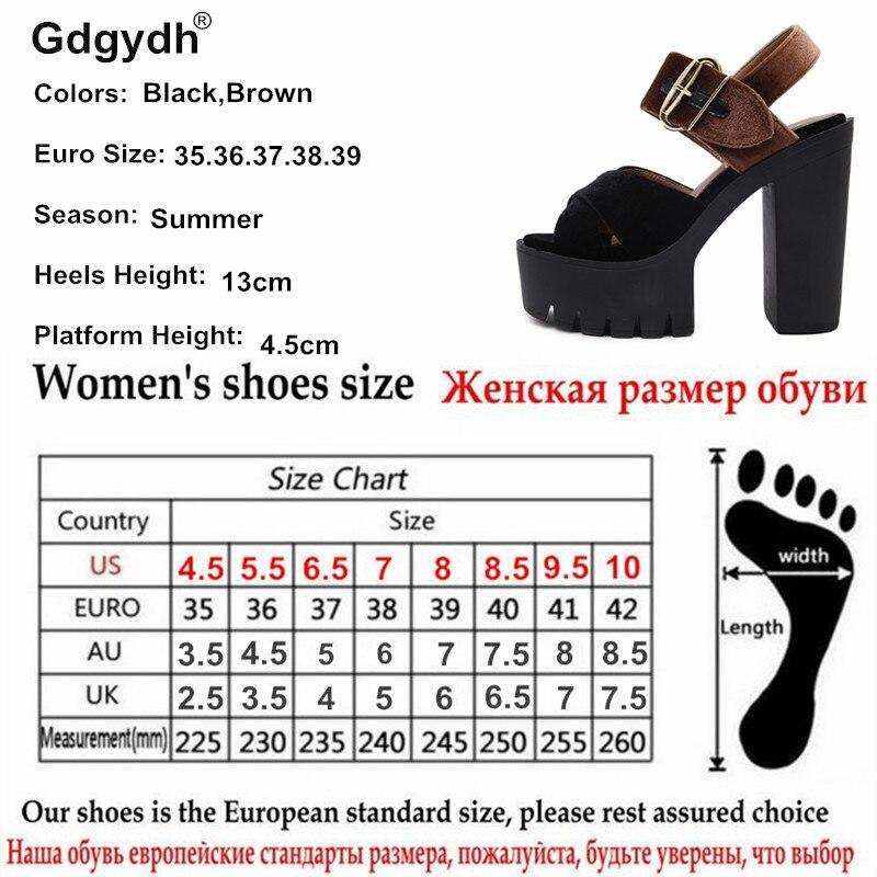 Gdgydh 2017 Musim Panas Kawanan Wanita Sandal Kaki Terbuka Platform - Sepatu Wanita - Foto 6
