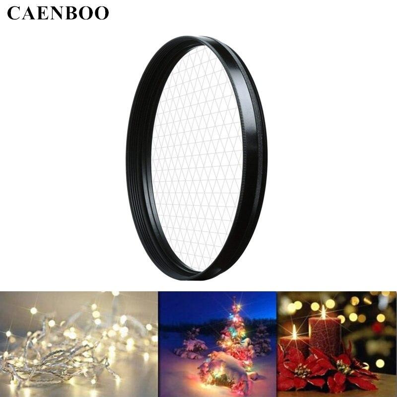 CAENBOO Camera Lens Filtre Étoile 37 40.5 46 49 52 55 58 62 67 72 77mm Croix 4X 6X 8X Lignes Lentille Lumière Filtre Pour Canon Nikon DSLR