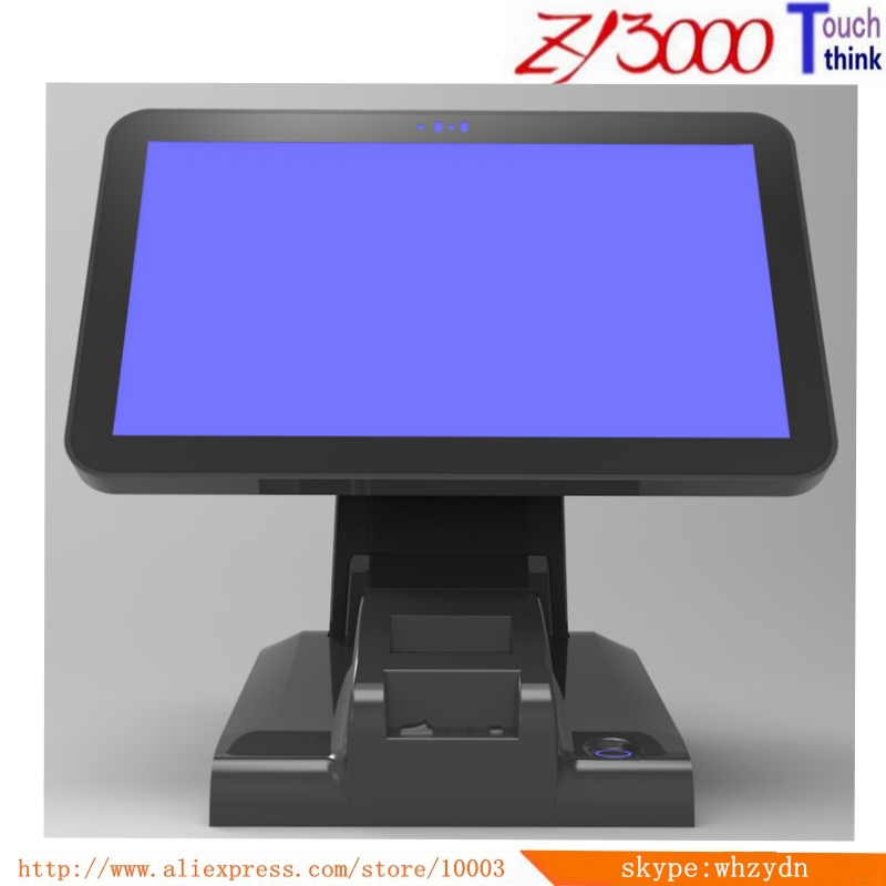 New Stock I5 CPU 8G Msata128G SSD WIFI 15.6 Inch Capacitive Touch Screen All In One POS Terminal With 58 Mm Printer
