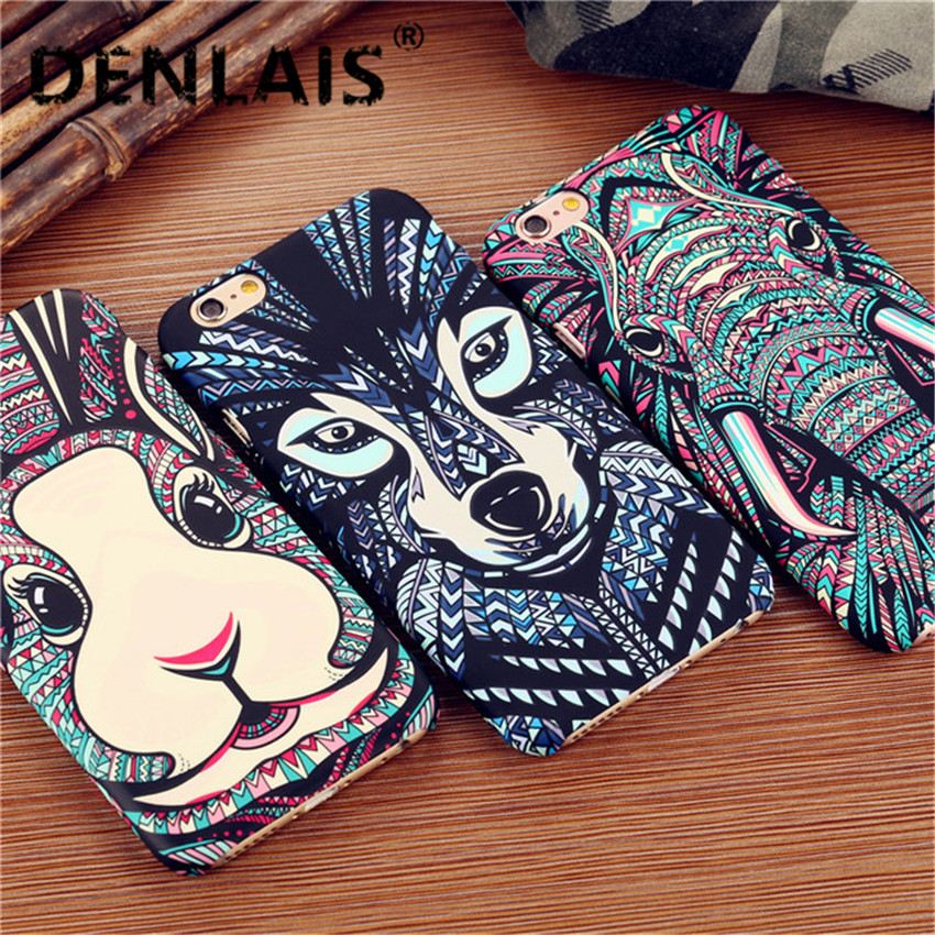 Amazing Aztec Jungle Animal Face Lion Tiger Owl Night Light Glow In The Dark Phone Cases Cover For Samsung Galaxy S6 S6 Edge