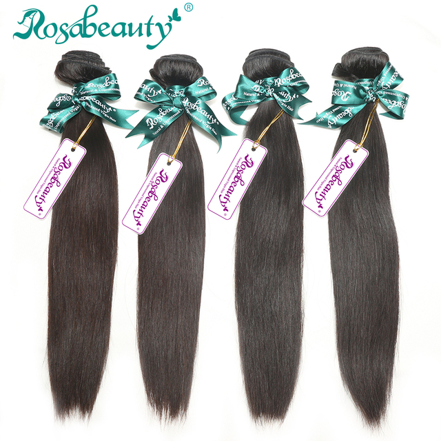 Rosabeauty Hair Product 4 Bundles Malaysian Virgin Hair Straight Unprocessed Malaysian Remy Hair Extensions FREE SHIPPING!