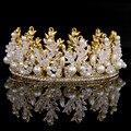 2016 European Pearl Headbands Girls Hair Accessories Tiara Hairband Bridal Crown For Bride Hair Jewelry Headpiece Flower Crown