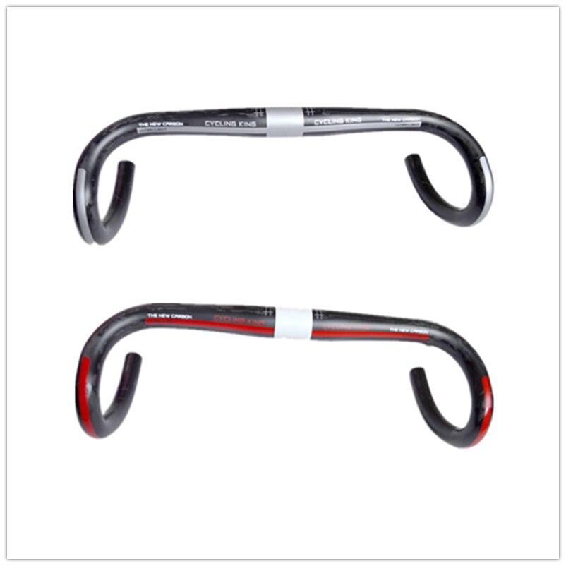 FREE SHIPPING cycling king full Carbon road bike handlebar bent bar Bicycle parts suplight 176g 400/420/440*31.8mm